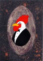Leghorn Rooster Ready for the Dance