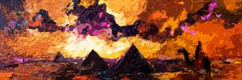 Abstract Modern Panoramic Egypt Pyramids