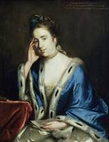 Portrait of Charlotte Walsingham, 1760 (oil on can