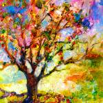 """Abstract Grandmas Apple Tree by Ginette"" by GinetteCallaway"