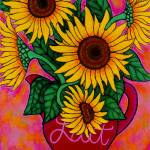"""Saturday Morning Sunflowers"" by LisaLorenz"
