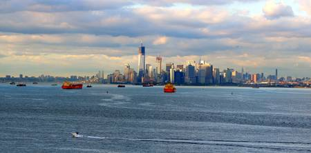 New York Harbor View in August