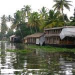 """Houseboats in Kerala"" by MiniArora"