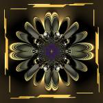 """Black Orchid Abstract"" by BlueRoosterGraphix"