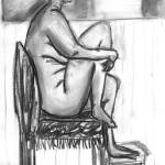 """Nude on Chair"" by RaeH"