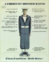 A Correctly Dressed Rating, Class II uniform (Dril