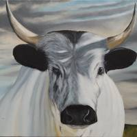 Blue Cow Blues Art Prints & Posters by Chuck Miller