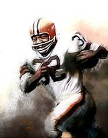 Jim Brown NFL Cleveland Browns Art by E. Vela