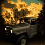 """My 51 Willys Jeep Pickup Truck at Sunset"" by chassinklier"