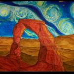 """Van Gogh Style Delicate Arch"" by Artpixie"