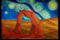 Van Gogh Style Delicate Arch