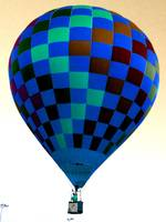 Hot Air Balloon Dark Blue
