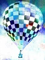 Hot Air Balloon checkered 7