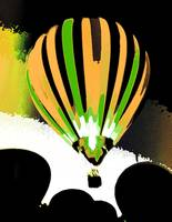 Stripe Hot Air Balloon  gold and green