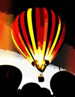Stripe  Hot Air Balloon Red 6