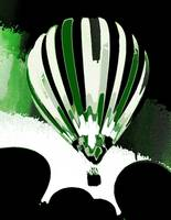 Stripe Hot Air Balloon Green 13