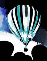 Stripe Hot Air Balloon Teal