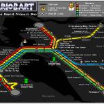 """Bay Area Rapid Transit Map - Mario Kart Style"" by originaldave77"