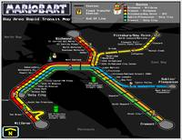 Bay Area Rapid Transit Map - Mario Kart Style