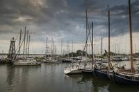 Sailboats at Enkhuizen, Holland