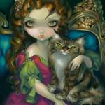 """Princess with a Maine Coon Cat"" by strangeling"