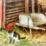 """Farm Cat"" by susansartgallery"