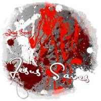 red splatter jesus saves