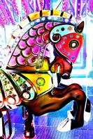 Color Explosion Carousel Horse