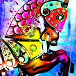 """Psychedelic  Carousel Horse"" by psovart"