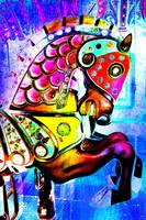 Psychedelic  Carousel Horse