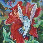 """""""Hummingbird and Hisbiscus"""" by ClydeYoshida"""