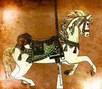 Carousel Horse in Browns