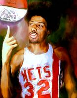 Julius Erving, Dr. J ABA New Jersey Nets Portrait