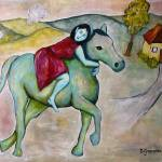 """Girl on Horse"" by BoboJunket"