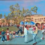 """mexican Plaza Triptych - right panel"" by PeterWorsley"
