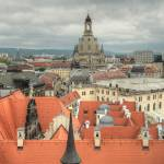 """View of the famous Frauenkirche in Dresden"" by andreea_gerendy"
