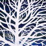 """white with blue tree"" by TCRAWFORD"