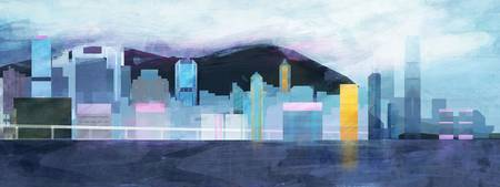 Hong Kong Harbor by CarlyDraws