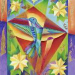 """""""Hummingbird Prism with Yellow Flowers"""" by ClydeYoshida"""