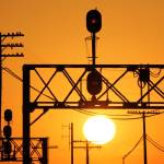 """""""Signalling Sunset"""" by Laurence"""
