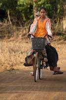 Village Girls on a bicycle (Cambodia)