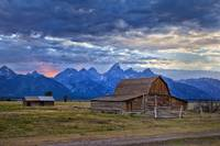 Last rays of sunlight at Grand Teton National Park
