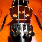 """violin desk and strings"" by Alekcej"