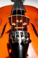 violin desk and strings