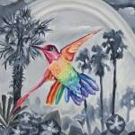"""Rainbow Hummingbird"" by ClydeYoshida"