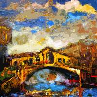 Abstract Venice Rialto Bridge Italy Modern Decorat