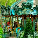 """Bryant Park Carousel"" by MauiViews"