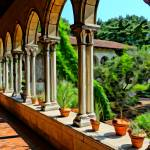"""Cloisters Colonnade & Courtyard"" by MauiViews"