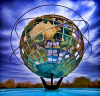 Unisphere in Flushing Meadow Park, NYC