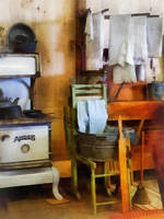 Laundry Drying in Kitchen